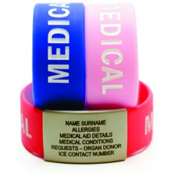 Infant/Toddler Writable Silicone Bands with Plate (TRI-Pack)